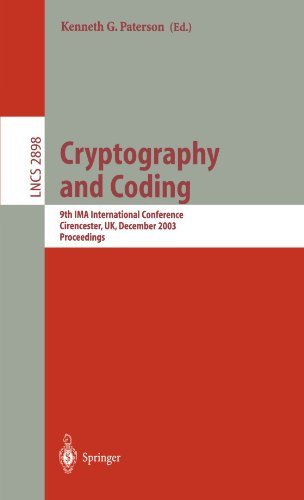 Cryptography and Coding: 9th IMA International Conference, Cirencester, UK, December 16-18, 2003, Proceedings (Lecture N
