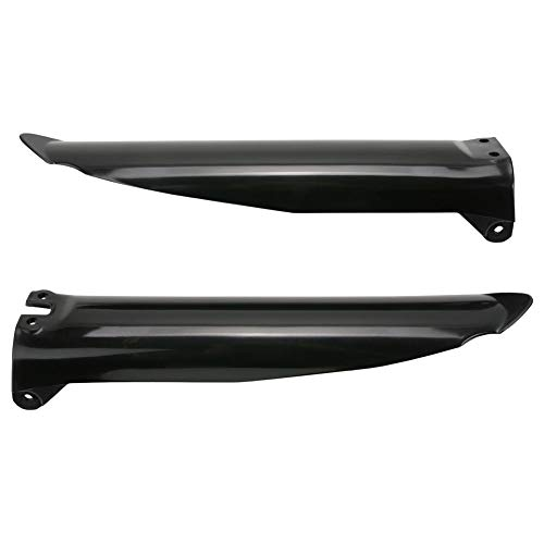 Acerbis Lower Fork Cover Set Black - Fits: Kawasaki KX125 1994-2003
