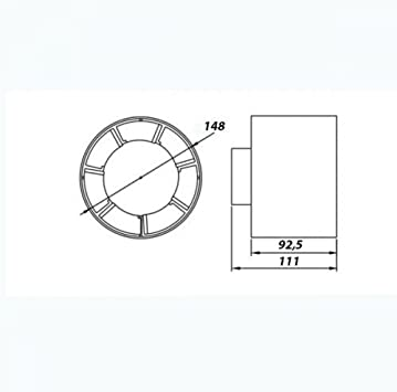 4 salle de bain cuisine domestique conduit axial en ligne ventilation extracctor ventilateur 100 m3 h 100 mm
