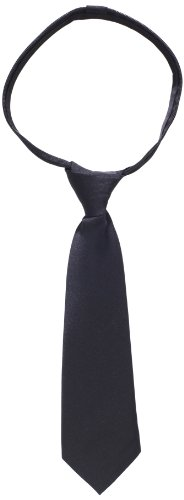 American Exchange Little Boys' Little Solid Zipper Tie, Black, 10 - Apparel American Tie