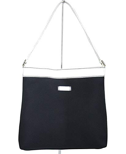 Gucci Navy Guccissima Leather Trim Meier Hobo Handbag 254639 4169