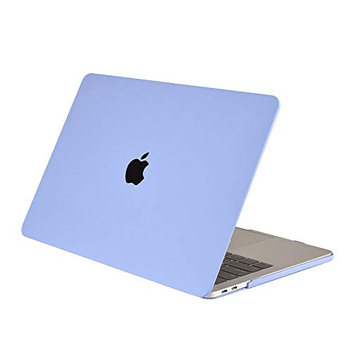 MacBook Pro 15 inch Case 2019 2018 2017 2016 Release A1990/A1707, AJYX Hard Plastic Matte Silky Smooth Soft Touch Laptop Hard Shell Cover Case - NY Serenity Blue