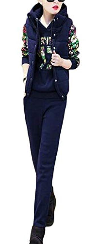 時々虐待グラスchenshiba-JP レディースパーカースウェットシャツ3個入り ウォームプルオーバー スポーツトラックスーツ Blue US X-Small