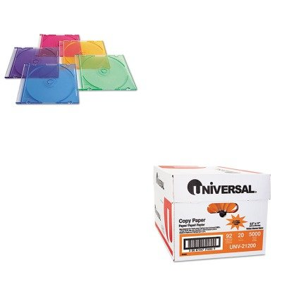 KITUNV21200VER94178 - Value Kit - Verbatim CD/DVD Slim Case (VER94178) and Universal Copy Paper (UNV21200)