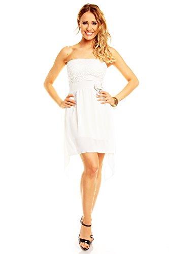 34f2a81b567b Sexy Vokuhila Partykleid, Abendkleid, Cocktailkleid in verschiedenen Farben  Weiß ...