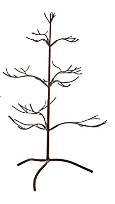 "Ornament Tree Christmas Décor/ Jewelry and Accessory Display in Mahogany Finish - 25""h"