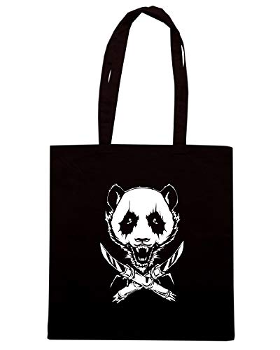 Borsa 2013 BLACKMETALPANDA 23 Shopper FUN0093 Nera 04 rrwqA
