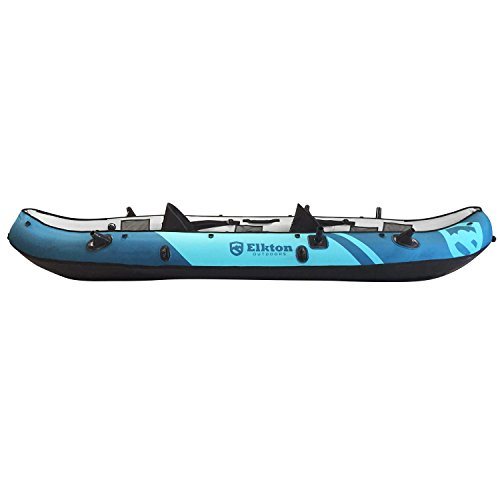 Elkton outdoors 10 foot inflatable tear resistant fishing for 10 foot fishing kayak
