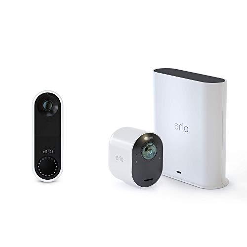 Arlo Ultra - 4K UHD Wire-Free Security Camera, Color Night Vision, Spotlight, 2-Way Audio, Indoor/Outdoor | with Arlo Video Doorbell