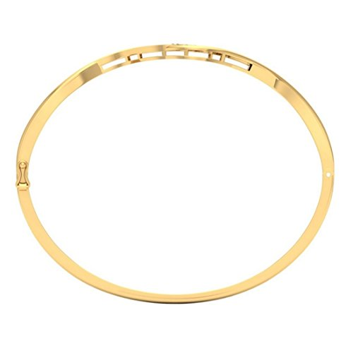 14 K Or jaune, 0,27 CT TW Round-cut-diamond (Ij| SI) Bangle-bracelets