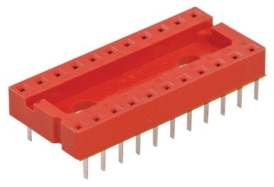 Jameco Valuepro 6000-22 Dual Wipe Solder Tail Low-Profile IC Socket, 22 Pin, 1 Amps, 0.188