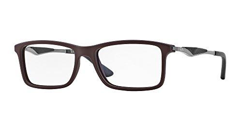Ray-Ban Men's RX7023 Eyeglasses Top Brown On Matte Black - Bl Ray Ban