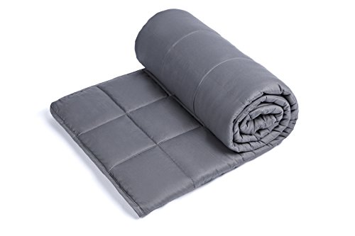 Weighted Blanket for Adults with Anxiety by Anjee Therapy, 15 lbs Autism Weighted Blanket for 100 - 150 lbs Persons, for Better Sleep and Stress Relief, Ideal Christmas Gift, (60 x 80 Inches, Grey) by Anjee (Image #1)