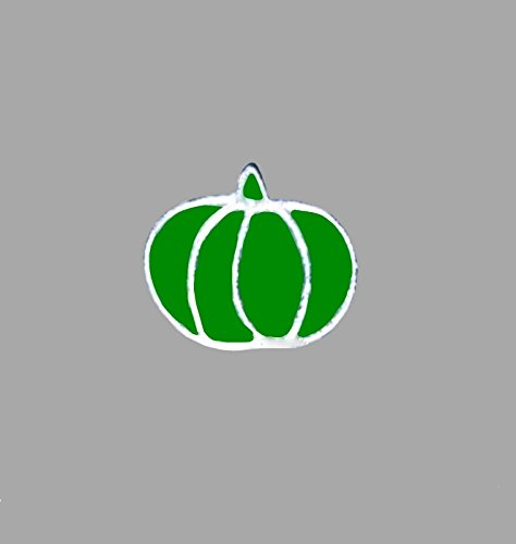 Green Pumpkin Halloween Harvest Floating Charm fits Origami Owl Lockets -