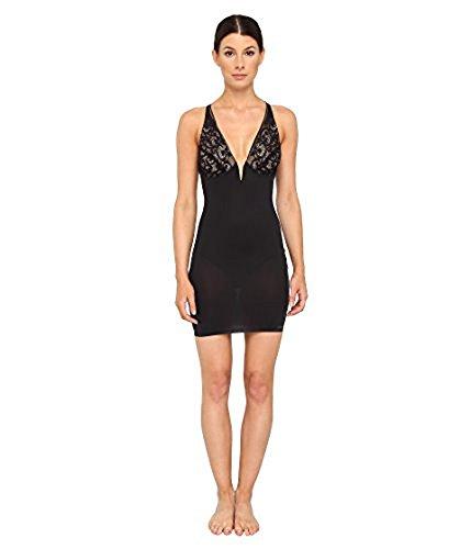 Donna Karan Clothes - Donna Karan Women's Sculpting Solutions Lace Smoothing Slip Black/Nomad MD