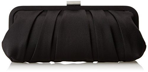 LOGAN-L Clutch, black Rayon Satin, One (Collection Pleated Shoulder Bag)