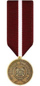 Medals of America Coast Guard Good Conduct Medal Miniature Bronze (Coast Guard Good Conduct Ribbon)