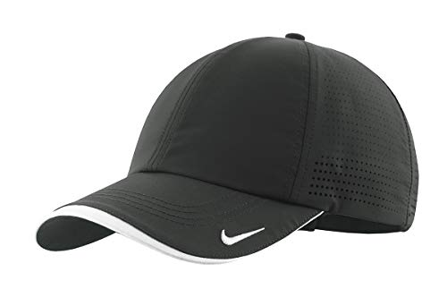 (Nike Golf - Dri-FIT Swoosh Perforated Cap. 429467 Anthracite OSFA)