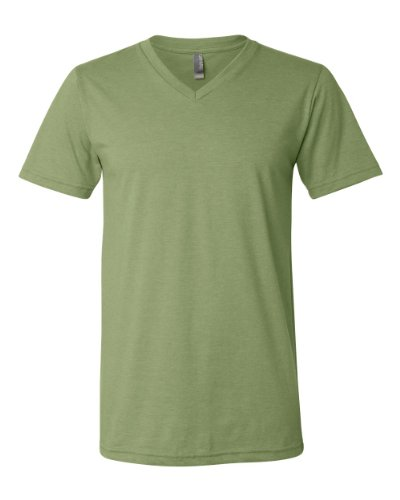 Bella mens Unisex Jersey Short-Sleeve V-Neck T-Shirt-HEATHER