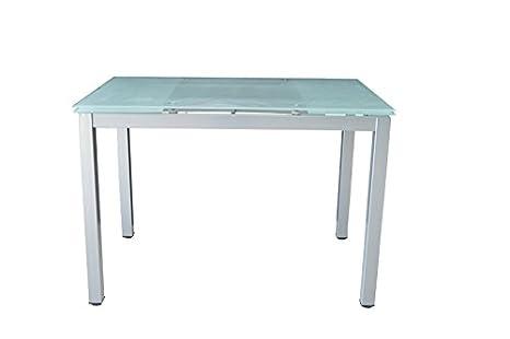 AVANTI TRENDSTORE Sirmione - Tavolo da pranzo in metallo con piano ...