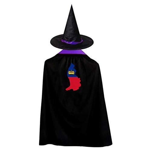 WFYZIYZL Liechtenstein Continent Shape Flag Halloween Costumes
