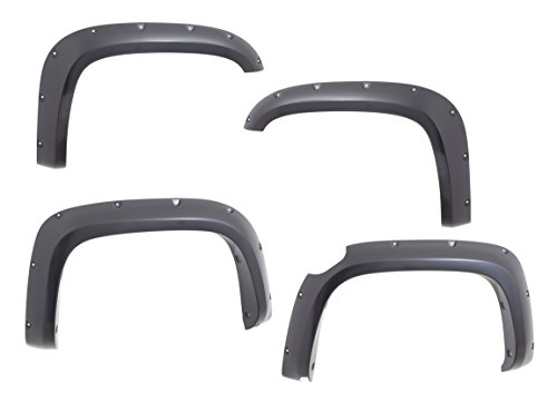 SPPC Black Fender Flare for GMC Canyon 4WD Crew Long Box Set of 4