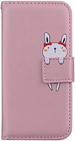 Snow Color Xiaomi Redmi Note 8T Hülle, Premium Leder Tasche Flip Wallet Case [Standfunktion] [Kartenfächern] PU-Leder Schutzhülle Brieftasche Handyhülle für Xiaomi Redmi Note8T - COHM010524 Rosa Gold