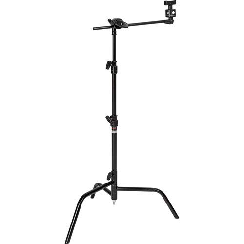 """Matthews 20"""" C+ Stand - Double Riser - Black - Grip and Lighting Equipment for Film Photography and Theatre"""