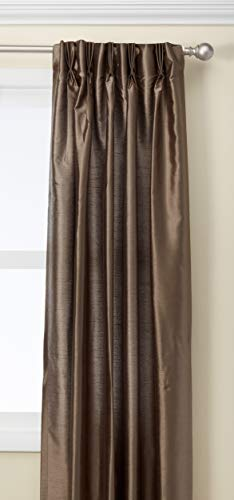 Curtainworks Marquee Faux Silk Pinch Pleat Curtain Panel, 30 by 84