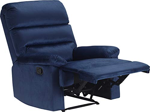 Truly Home UPH10156B Davis Recliner Navy Blue Navy Blue