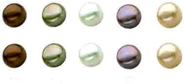 Perfect Gift Sterling Silver 5 Pair Multi Color Freshwater Cultured Pearl Earring Set