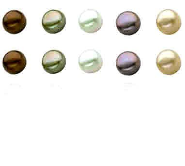- Perfect Gift - Sterling Silver 5 Pair Multi Color Freshwater Cultured Pearl Earring Set