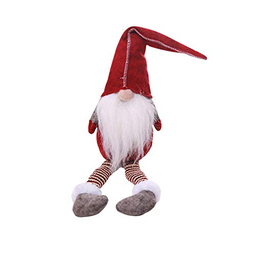 Christmas Decoration IEason 20 Inches Handmade Christmas Gnome Swedish Figurines Holiday Decoration Gifts (Red)