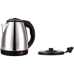 Scarlett Hot Water Pot Portable Boiler Tea Coffee Warmer Heater Cordless Electric Kettle Electric (2 L, Silver)