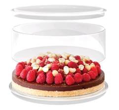 Traditional Round Master 3 Piece Cake Pan 9inch clear acrylic
