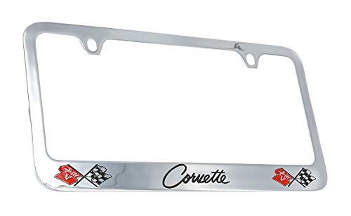 Chevrolet Corvette C2 Chrome Plated Metal License Plate Frame Holder