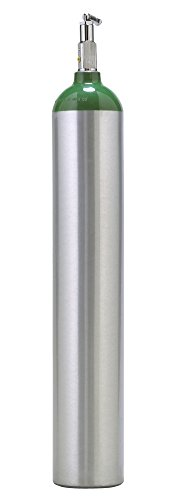 Cyl-Tec Medical E Oxygen Cylinder with CGA 870 Toggle Valve Post Valve Cylinder