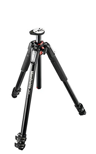 Manfrotto MT055XPRO3 Aluminium 3-Section Tripod Kit w/ MHXPRO3W X-PRO 3-Way Head w/Retractable Levers and Friction Controls w/ Two Replacement Quick Release Plates for the RC2 Rapid Connect Adapter (Pro Way 3)
