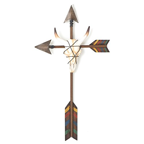 uthwest Arrow and Skull Wall Cross (Western Cross Wall Art)