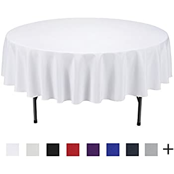 Remedios 90 Inch Round Polyester Tablecloth Table Cover   Wedding  Restaurant Party Banquet Decoration,