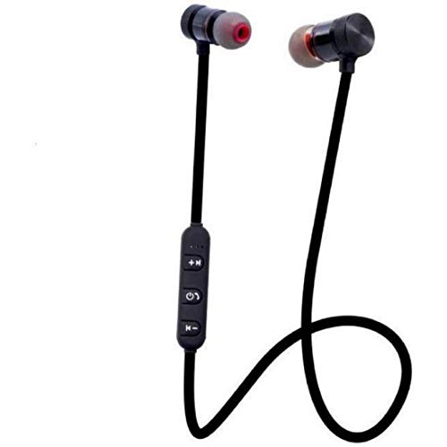 SBA999 C003 Magnetic Bluetooth Headset Headphone with Noise Isolation, Thunder Beats Stereo Sound and Hands-Free with Mic for M20 and All Android Devies