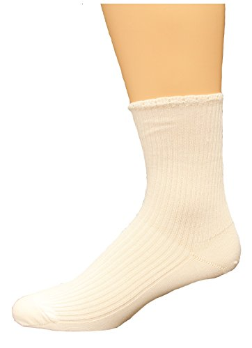 Lightweight Ped Socks (Medipeds Women's Lightweight Turncuff 1 Pr Medium White)