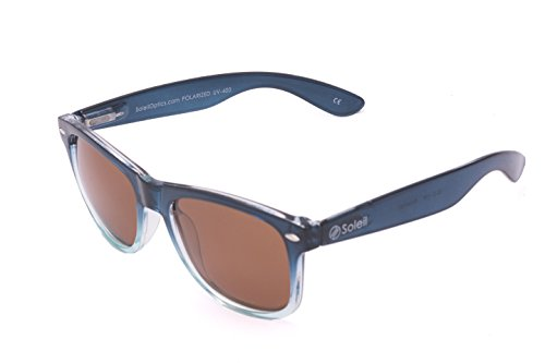 Soleil POTOMAC with Comfort Fit Spring Hinges (Two-Tone Translucent Blue Frame, Polarized Brown - Blocker Shades Blue