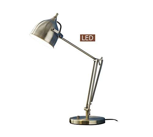 Satin Caprice - Artiva USA LED9938TAB Caprice LED Desk Lamp, Antique Satin Brass