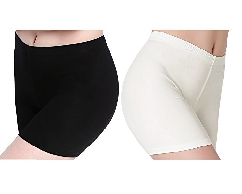 CnlanRow Womens Under Skirt Soft Shorts - Safety Pants Stretch Short Leggings Women