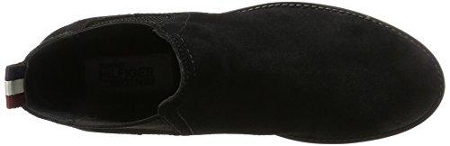 Tommy Jeans Damen G1385etty 1b Chelsea Boots Schwarz (Black)