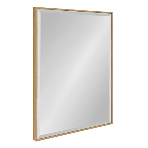 Kate and Laurel Rhodes Large Framed Decorative Rectangle Wall Mirror, 23 x 29 Natural Teak Finish Review