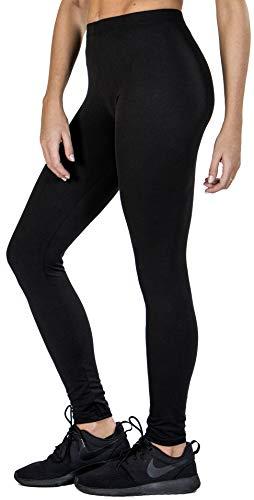 Love Charm Women's Super Soft Full Length Legging-Seamless Technology (1, L/XL) Black