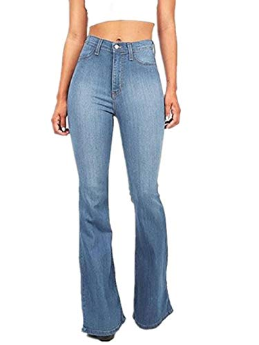 Femme Haute Bleu FuweiEncore Jeans pour Taille wZ48qv