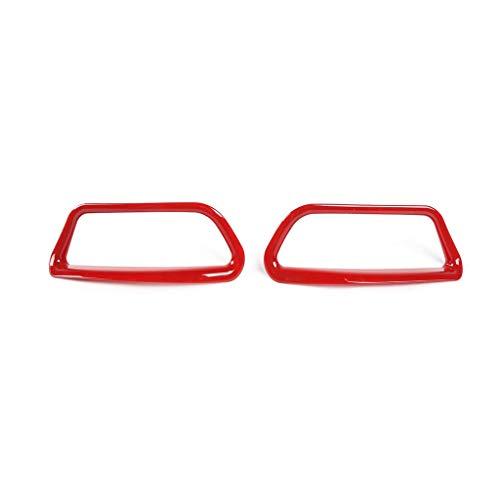 Au Decorative Heat Lamps - Psler Car Exterior Rear Fog Light Lamp Decoration Frame Trim Cover for Jeep Cherokee 2019 (Red)